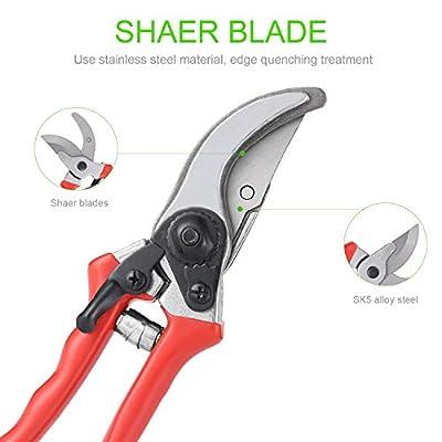 FER Professional Sharp Pruning Shears Bypass, Garden Tree Pruner for Small Hand, Hand Garden Clippers Heavy Duty Bulk : Garden & Outdoor