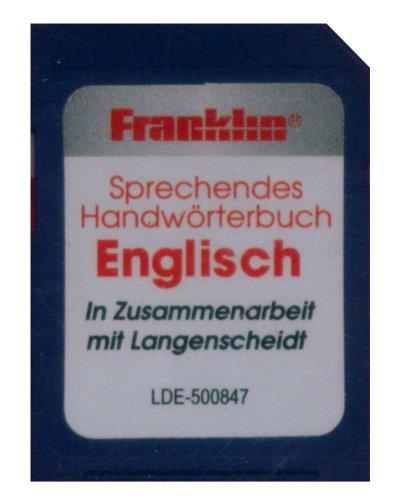 Franklin Bookman SD-Karte. LDE-500847 Englisch: SD-Karte mit Langenscheidt HWB Deutsch<->Englisch