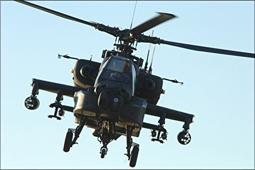 24x36 Poster . Army Ah-64 Apache Longbow Helicopter Air Support ()