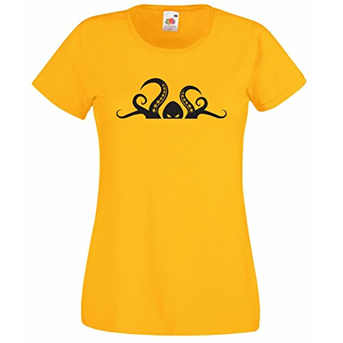 Of Octopus T Marine Décalque Tentacule Créature Cadeau Loom Amoureux Femmes Effrayant Tête Hasard Super Gratuit shirt Premium Avec Fruit The Animaux Jaune Au Des rqA8wIq