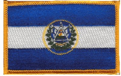 El Salvador iron-on embroidered patch