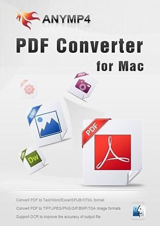 Amazon com: AnyMP4 PDF Converter for Mac Lifetime License - Convert