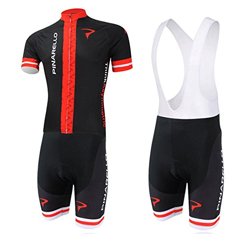 (Men's Cycling Jersey Set Bike Jersey Bicycle Summer Breathability Short Sleeve Suit C136 (M, XL))