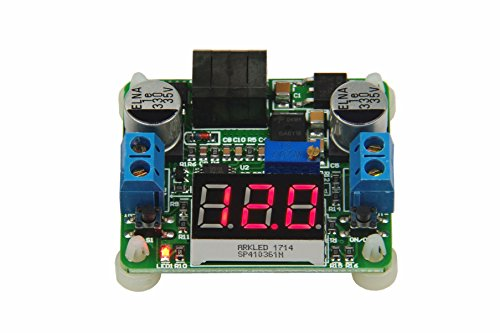 (KNACRO DC-DC Buck Boost Converter 5V-25V to 0.5-25V 2A High Efficiency Voltage Regulator 5V 12V Variable Volt Power Supply Stabilizers with Red LED Voltmeter for Car Battery Fan)