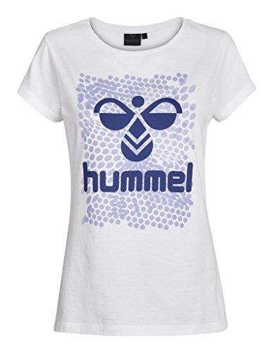 Hummel Damen T-Shirt Hexagon SS Tee, White, M, 09-876-9001