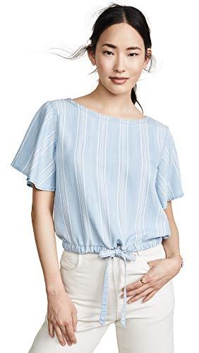 (BB Dakota womens Earn Your Stripes Indigo Tencel top, chambray medium)
