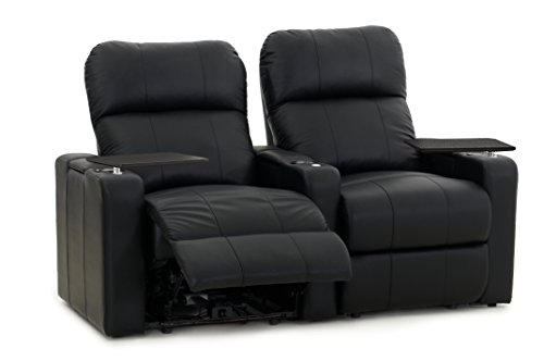 Octane Turbo XL700 Row of 2 Seats, Straight Row in Black Bonded Leather with Manual Recline