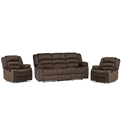 Cool Amazon Com Home Square 3 Piece Recliner Sofa Set With Squirreltailoven Fun Painted Chair Ideas Images Squirreltailovenorg