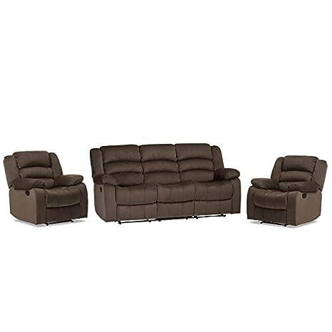 Incredible Amazon Com Home Square 3 Piece Recliner Sofa Set With Lamtechconsult Wood Chair Design Ideas Lamtechconsultcom