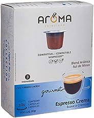 Cápsulas de Café Aroma Espresso Crema Aroma Selezione,Compatível com Nespresso, Contém 10 Cápsulas