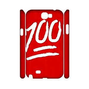 Wlicke 100 Emoji Cheap Durable samsung galaxy note2 n7100 3D Case, Customised Protective Cover Case for samsung galaxy note2 n7100 with 100 Emoji