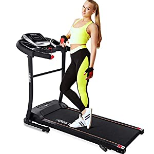 Well-Being-Matters 41OUtdZcSPL._SS300_ Merax Easy Assembly Folding Treadmill Motorized Running Jogging Machine (Gray Black)