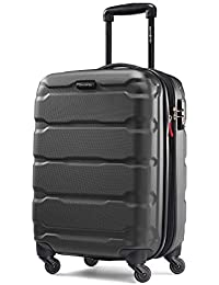 Omni PC Hardside Expandable Luggage with Spinner Wheels, Black, Carry-On 20-Inch