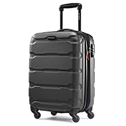 Travel Junkie 41OUtgRSwvL._SS247_ Samsonite Omni PC Hardside Expandable Luggage with Spinner Wheels, Black, Carry-On 20-Inch