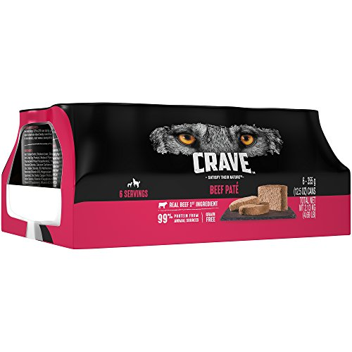 Crave Adult Wet Dog Food Beef Paté, 12.5 Ounce Can (6-Count) (Best Dog Food Ratings 2019)