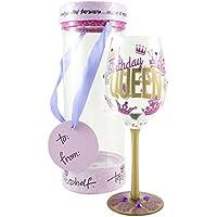 Estante superior decorativo Vino vidrio–Regalo único para las mujeres, Queen, Multicolor
