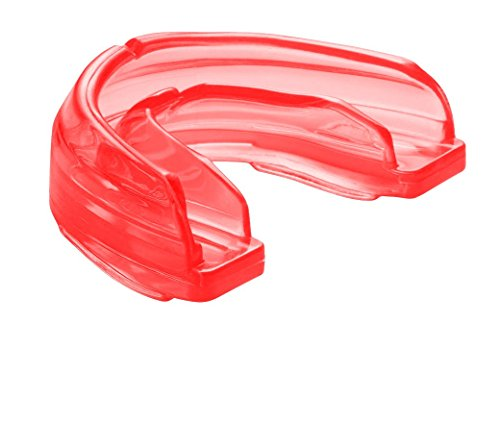 Shock Doctor Braces Strapless Mouth Guard, Youth, Red (Red Lacrosse Helmet Accessories)