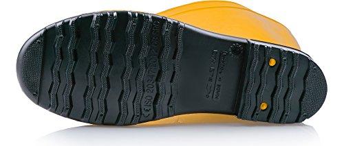 Botas La Agua Seguridad negro Mujer Antideslizantes De Zapatos Ladeheid Amarillo 967 0wERqdpW