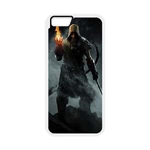The Elder Scrolls V Skyrim iPhone 6 Plus 5.5 Inch Cell Phone Case Whiteten-132019