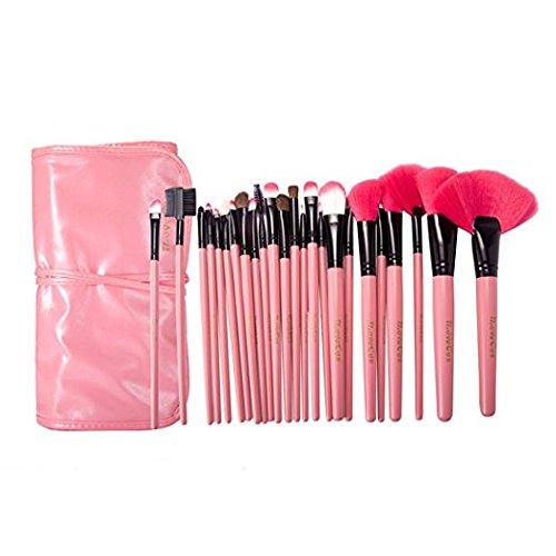 PinkSheep Makeup Brushes Make up Brushes Professional Wool Cosmetic Makeup Brush Set Kit--24 (Sheep Costume Makeup)