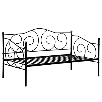 Daybed Metal Daybed Frame With Steel Slats Bedframe Box Spring Replacement