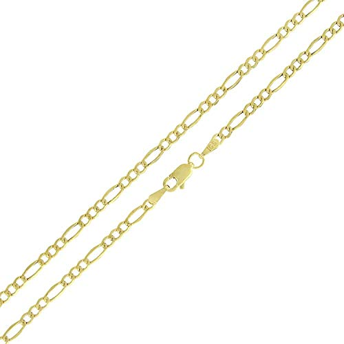 - Becca Code 14k Yellow Gold 2MM Hollow Figaro Chain Necklace 20