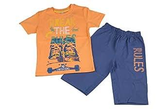 Chiquitos Boys 2 Pc Bermuda Set, Orange