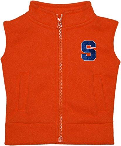Syracuse Orangemen Fleece - Creative Knitwear Syracuse University Baby and Toddler Polar Fleece Vest Orange