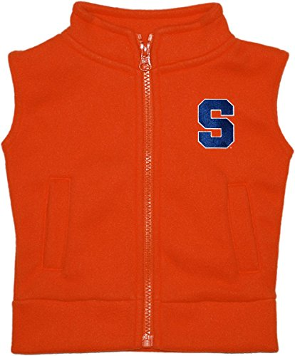 Creative Knitwear Syracuse University Baby and Toddler Polar Fleece Vest Orange