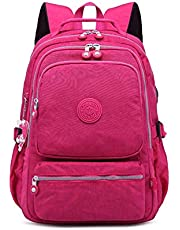 Backpack Multi-Function Travel, Waterproof Nylon wear-Resistant Decompression Student, Men's and Women's Travel and Leisure USB, Suitable for Business/Travel/Class, etc. Elise
