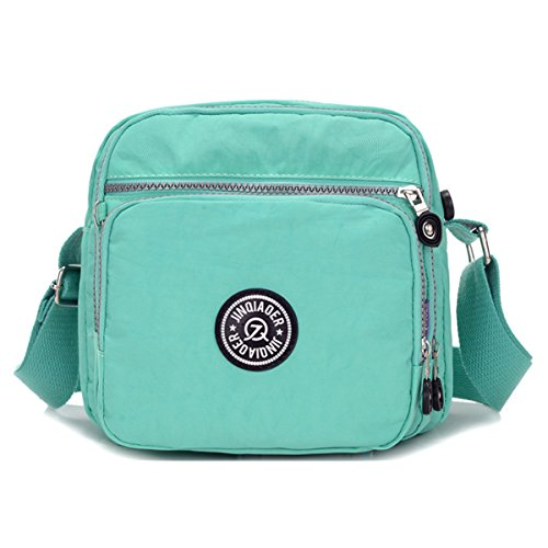 Messenger Bag Nylon Green Waterproof Tiny Lightweight Pockets Shoulder Chou Crossbody Bag Compact with C8CqtzRw7