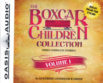 The Boxcar Children Collection Series Set of 6 Volumes - 18 Complete Boxcar Children Stories including The Boxcar Children #1, Surprise Island #2, The Yellow House Mystery #3, Mystery Ranch #4, Mike's Mystery #5, Blue Bay Mystery #6, and 10 More by Oasis Audio