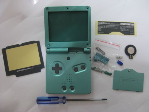 Full Parts Replacement Housing Shell Pack for Nintendo Gameboy Advance Sp GBA Sp(green)(no Battery) (Nintendo Sp Replacement Parts)