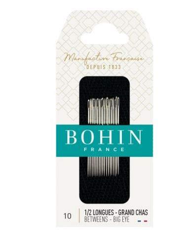 (Bohin Hand Quilting Betweens/Big Eye Needles Size 10)