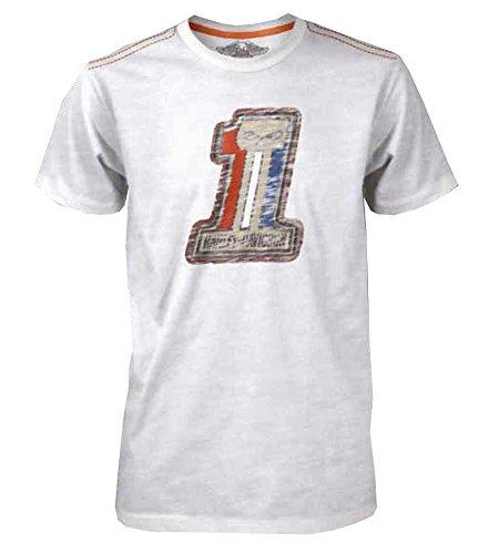 Patriot Harley Davidson - Harley-Davidson Men's Black Label T-Shirt #1 Skull Patriot, White 30293145 (3XL)
