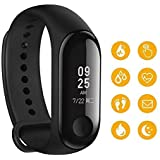 MobSpy Animate M3 Band Intelligence Bluetooth Health Wrist Smart Band Watch Monitor Smart Health Bracelet Activity Tracker Smart Fitness Band Compatible for All Androids