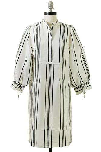 Apiece Apart Isli Viola shirtdress In Sandalwood Stripe by Apiece Apart