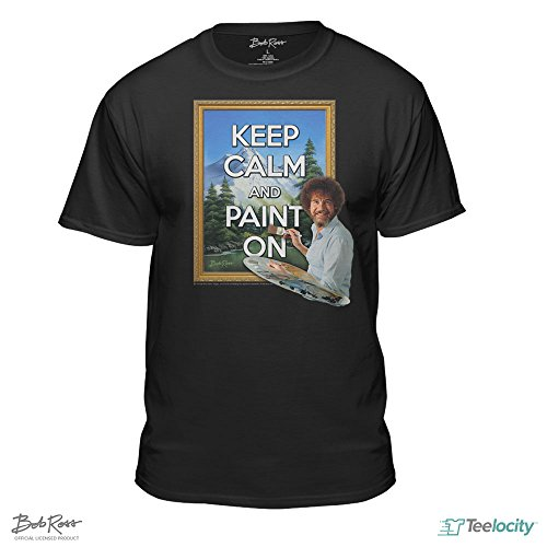 Bob Ross Keep Calm And Paint On Officially Licensed T Shirt  Xx Large