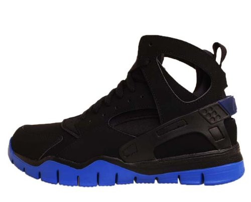 Nike Air Huarache BBALL 2012 Black Varisty Royal Basketball Shoes 488054-004