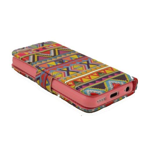 MOONCASE iPhone 5C Case Leder Tasche Flip Case Cover Schutzhülle Etui Hülle Schale für iPhone 5C