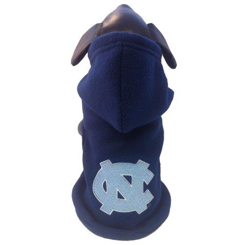 - NCAA North Carolina Tar Heels Polar Fleece Hooded Dog Jacket, X-Large
