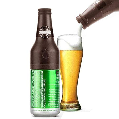 CLDGF Ultrasonic Beer Foamer, Portable Beer Dispenser, Party, Kitchen, Bar, Wine, Tools, Creative Gifts, Bubbler (2AA Not Included),Brown]()