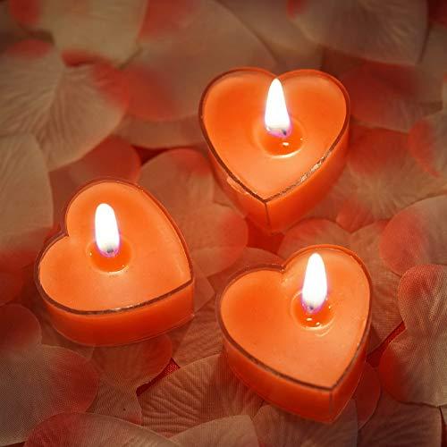 - Mikash 2 Red Heart Votive Tealight Candles Wedding Parties Centerpiece Decorations | Model WDDNGDCRTN - 16119 | 36 Pieces