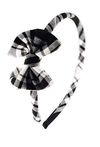 Cerchietto per capelli bambina fatto a mano in tessuto a quadri bianco e  nero 8740abee3be4
