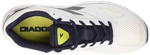 Diadora Shape 4 - Sneakers Unisex adulto Bianco Ottico/Blu Estate