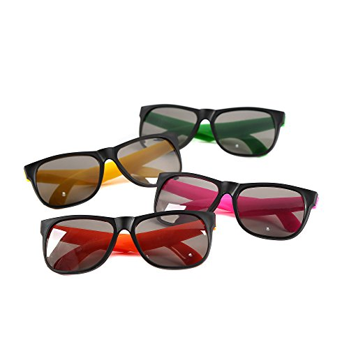 Fun Central AU112 Neon Frame Sunglasses - Assorted 24 - 1930 Sunglasses