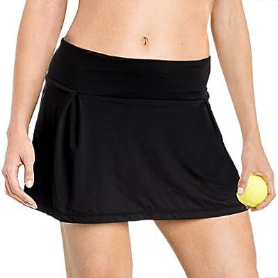 new concept 3005a 68744 Yogipace Pleated Running Skirt Marathon Skort Tennis Ball Pockets Cute Look  for Women Girls Size L