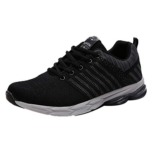 ⚡HebeTop ⚡Mens Sneakers Lightweight Breathable Running Shoes Black