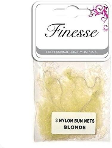 Blonde 3-Piece Finesse Nylon Styling Bun Nets