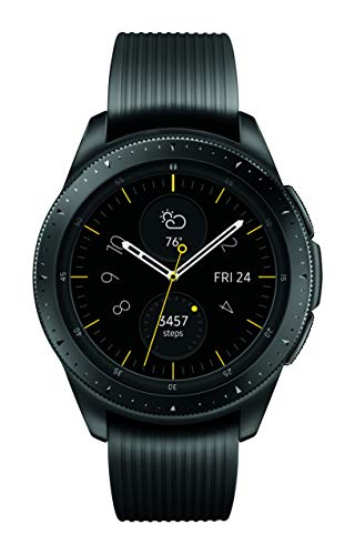 413eade8574 Amazon.com  Samsung Galaxy Watch (42mm) Midnight Black (Bluetooth) SM-R810NZKAXAR  – US Version with Warranty  Cell Phones   Accessories